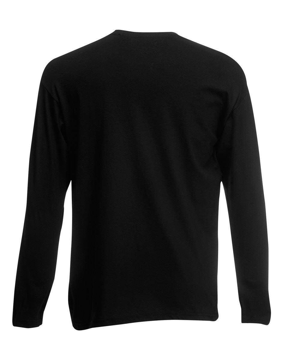 3 Pack Men/'s Fruit of the Loom Long Sleeve T Shirt Plain Tee Shirt Top Cotton