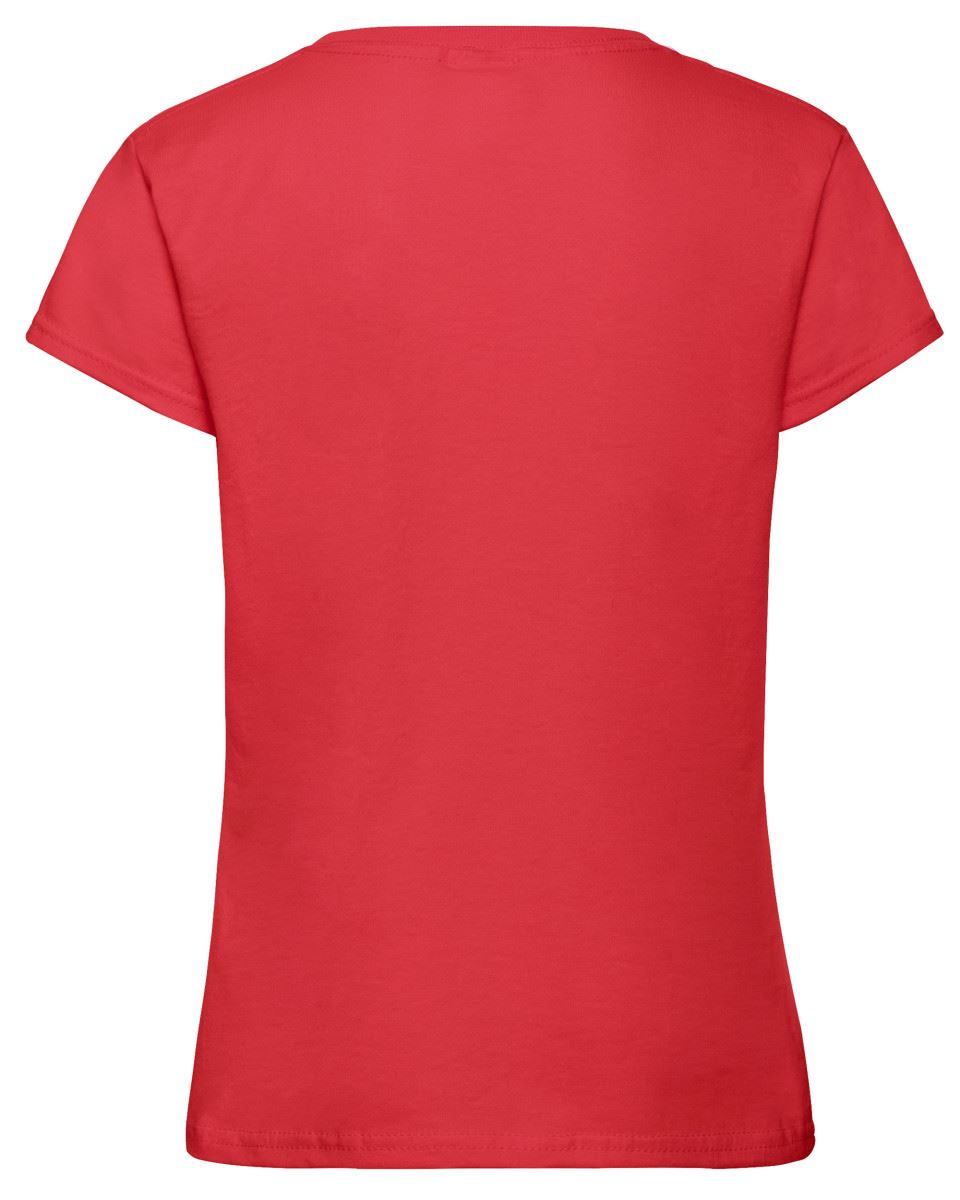 Fruit Of The Loom Girls Sofspun Tshirt Casual Round Neck Plain Soft Cotton Tee