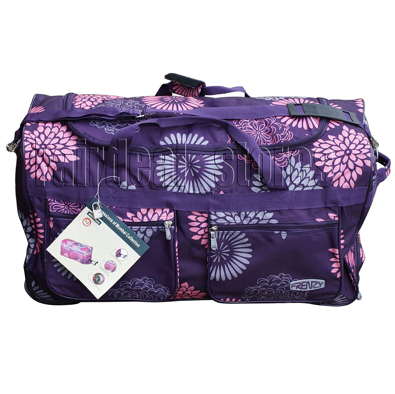 """2 roues chariot Wheeley Duffle Rolling bagages sac de voyage 70 l 27/"""""""