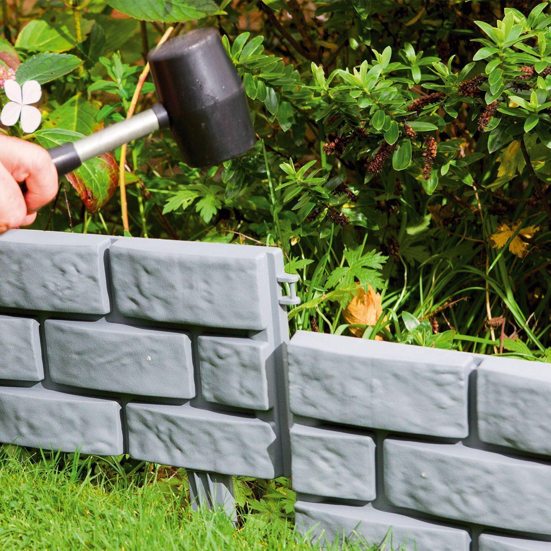 Effet brique terre cuite//Gris instantanée Marteau à Jardin Pelouse Bordure Plante Bordure