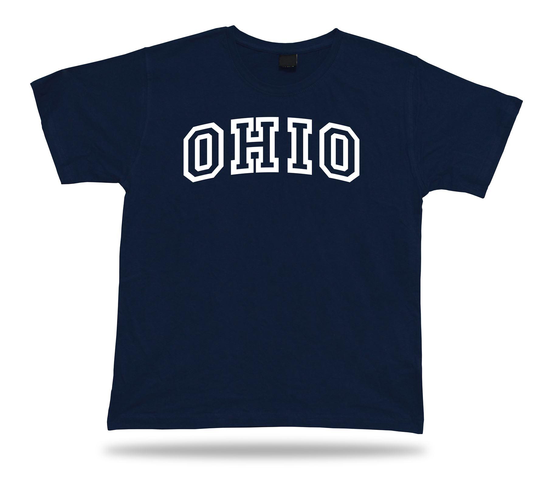 Ohio Buckeye State OH T-Shirt Fan TEE unisex Top Fashion Modern Apparel style