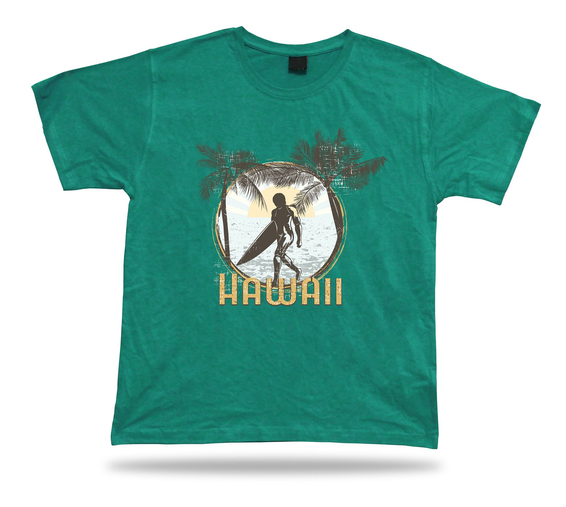 Hawaii Surfer Surfboard Summer Breeze T shirt tee stylish modern design apparel