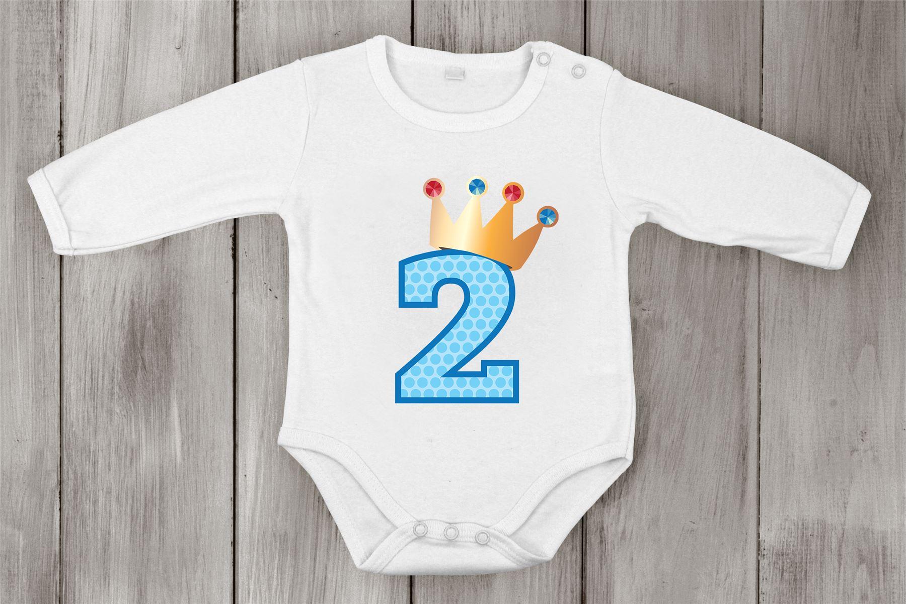 Second Birthday Babygrow Cotton Boy Newborn Romper princess Shower One-piece