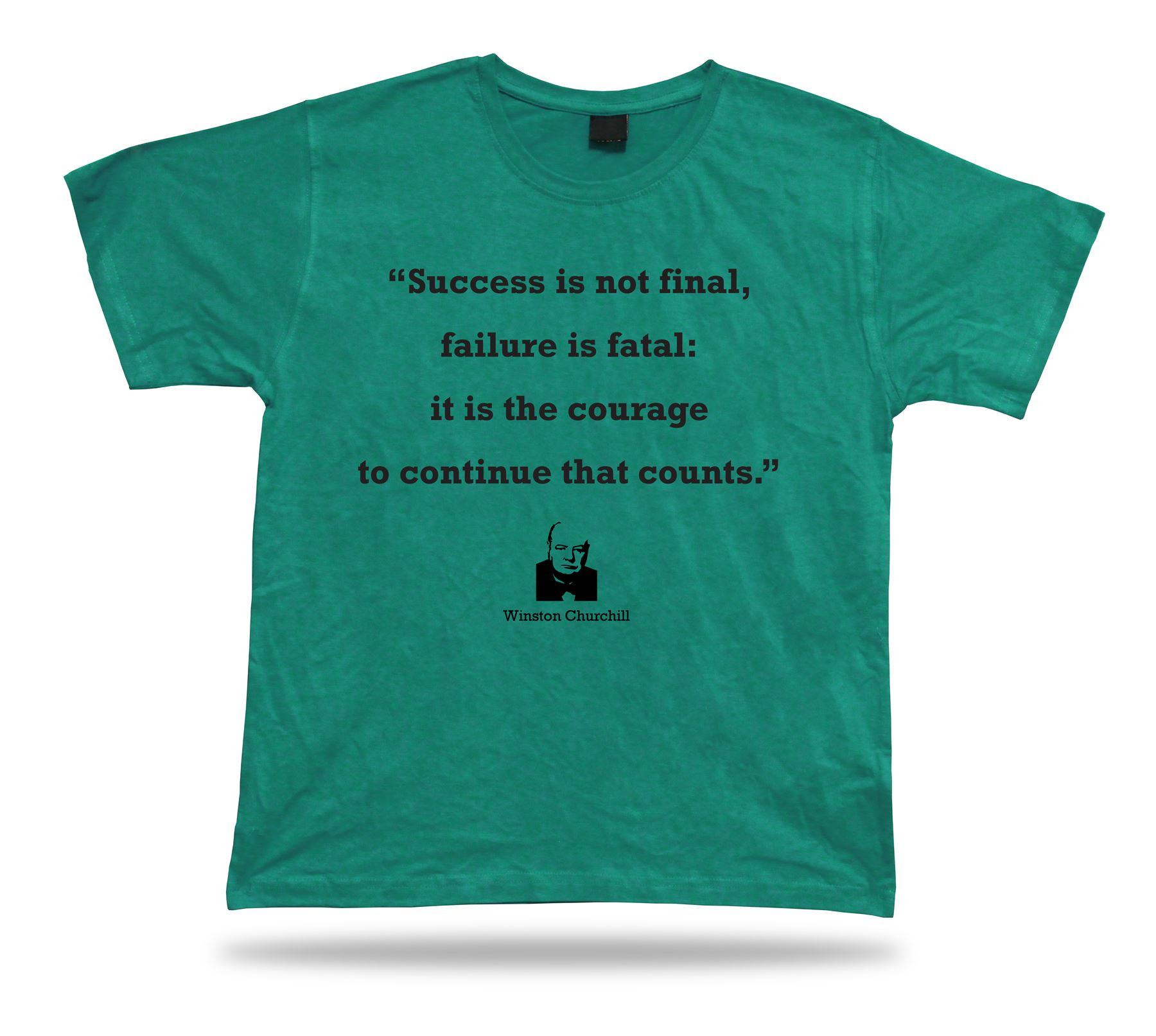 Winston Churchill Quote Ceramic t-shirt BEST TEE proverb APPARLE fine gift