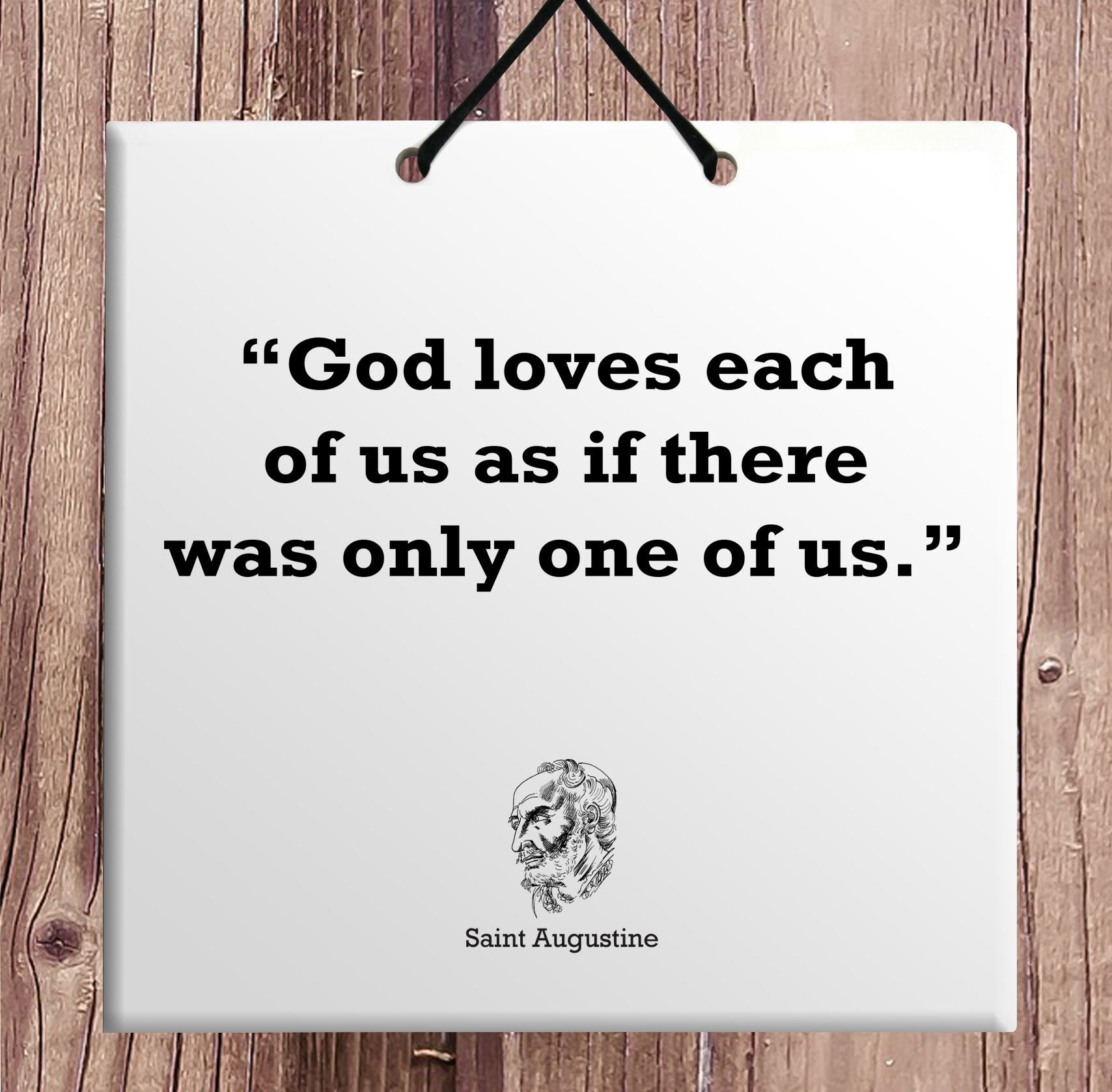 Saint Augustine Quote Wooden Wall Hanging TILE Plaque Home Decor Gift Sign