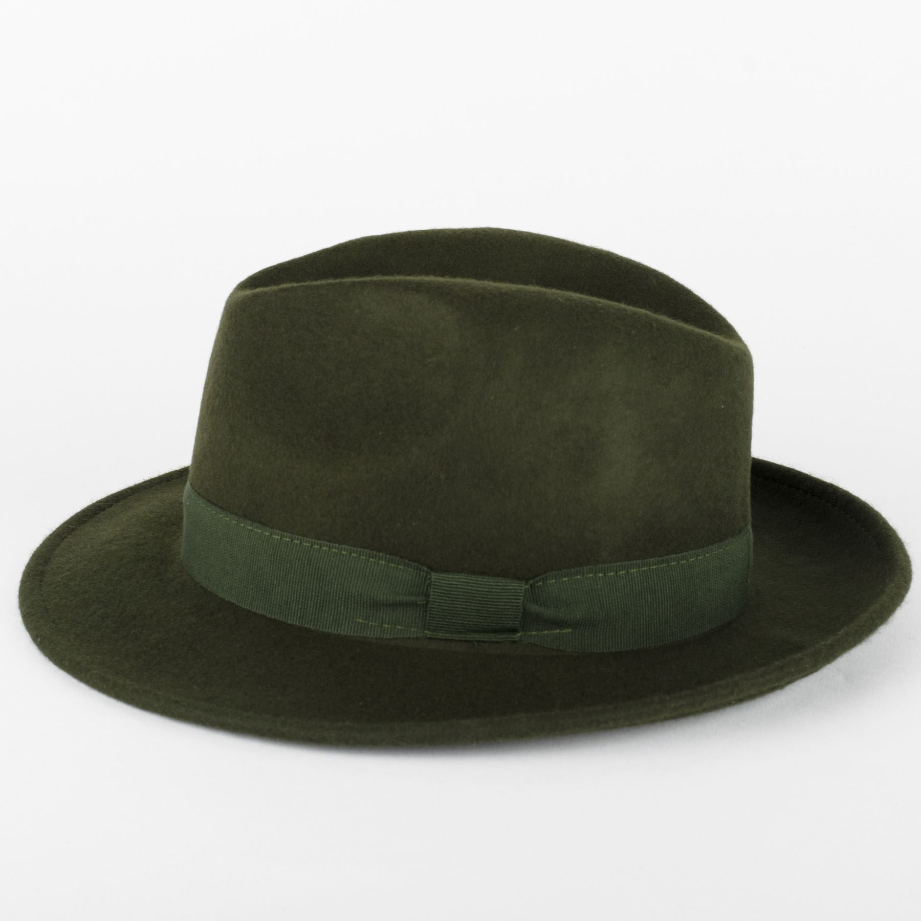 100/% Wool Trilby Fedora Hat Handmade in Italy