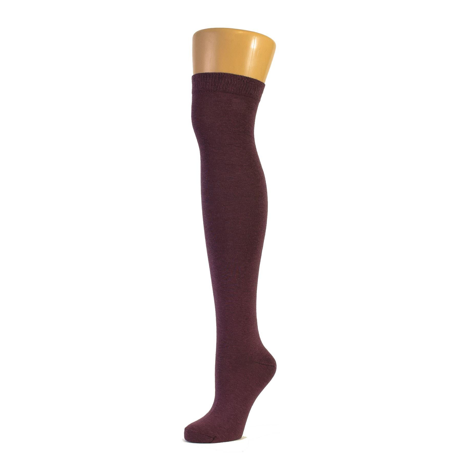 Plain Over the Knee Socks Size: 12.5-3.5