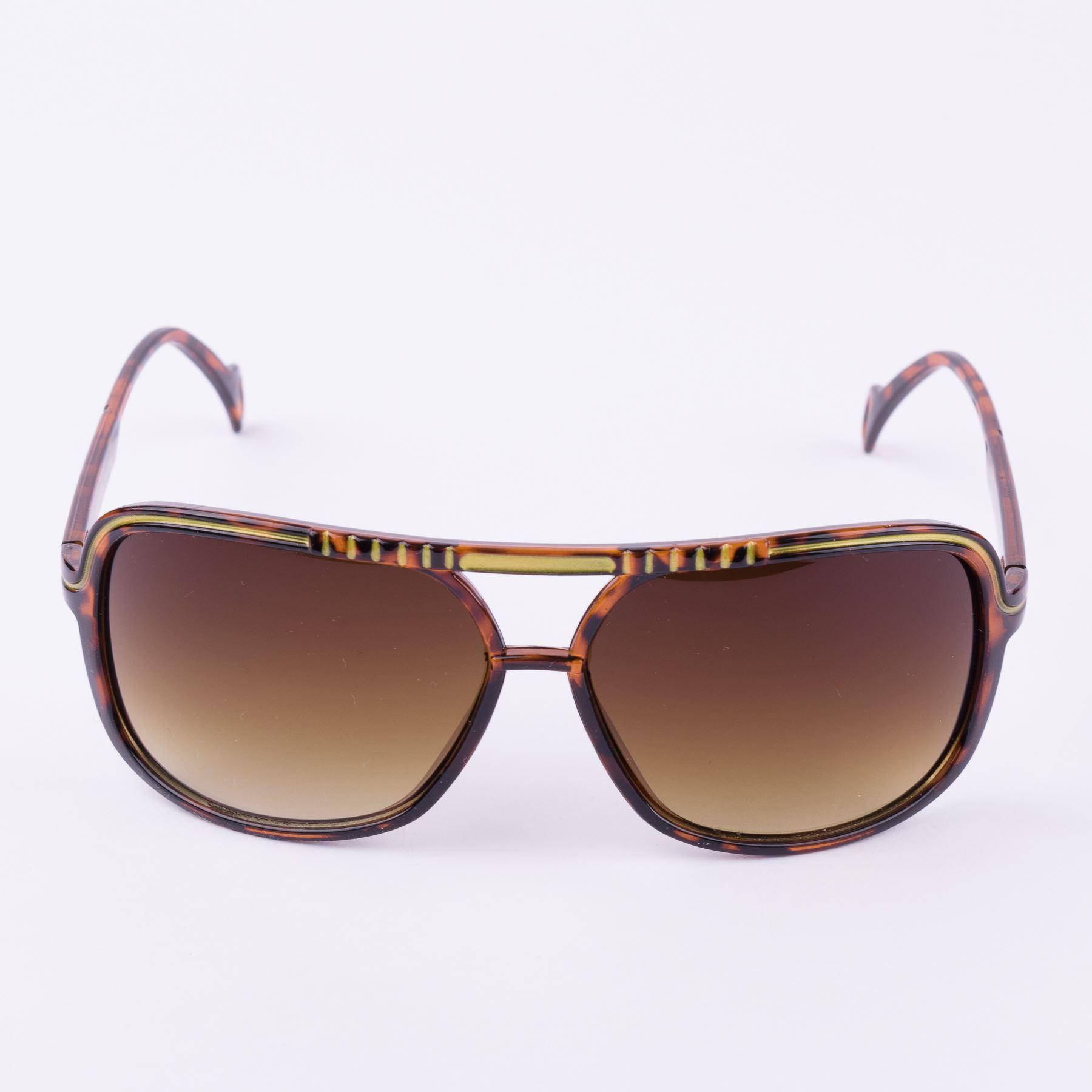 Umwickelte Retrostil Sonnenbrille mit obere Leiste aus Metall
