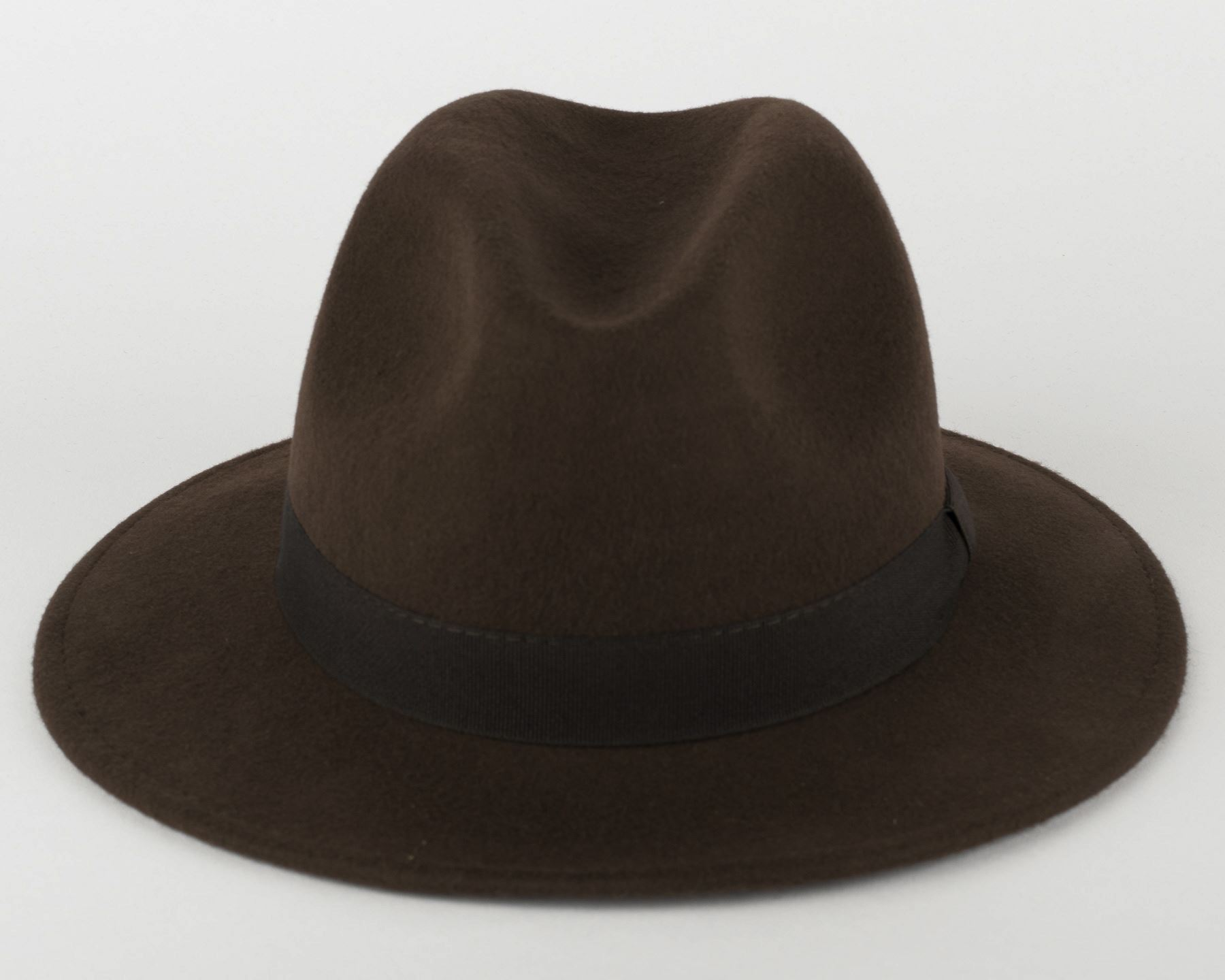 100/% Wool Fedora Hat with Grosgrain Band Handmade in Italy