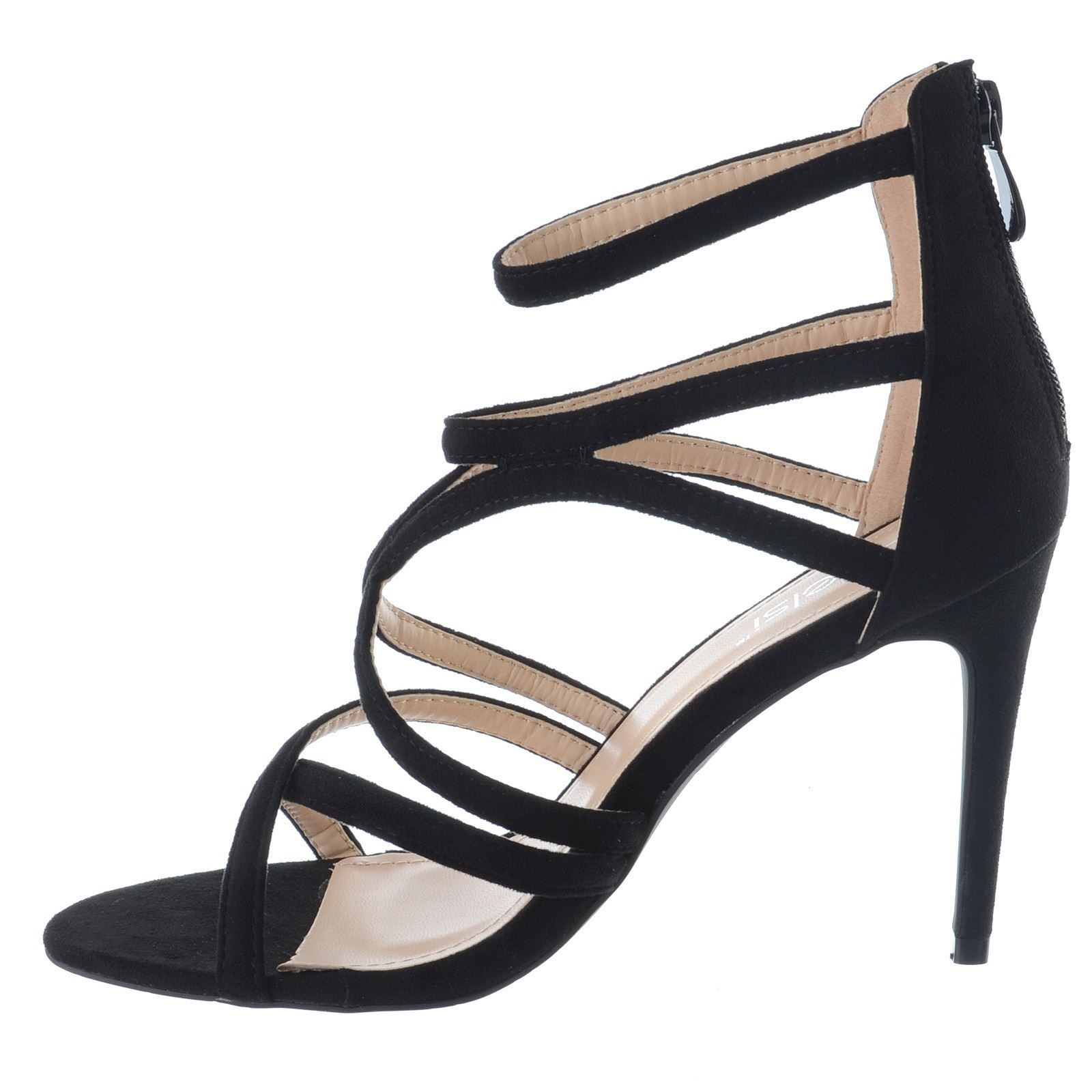 NEW LADIES WOMENS HIGH STILETTO HEEL CAGED CUT OUT SANDALS STRAPPY SHOES SIZE