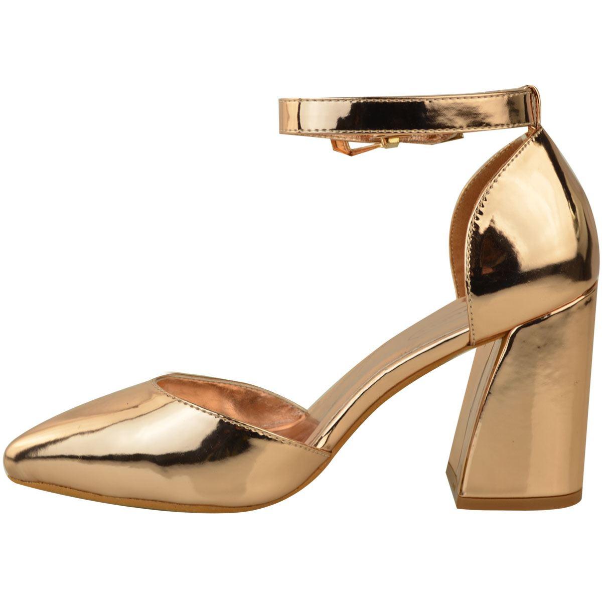 Da Donna a Metà Alta Blocco Tacchi A Punta Cinturino Alla Caviglia Donna Sandali Di Scarpe