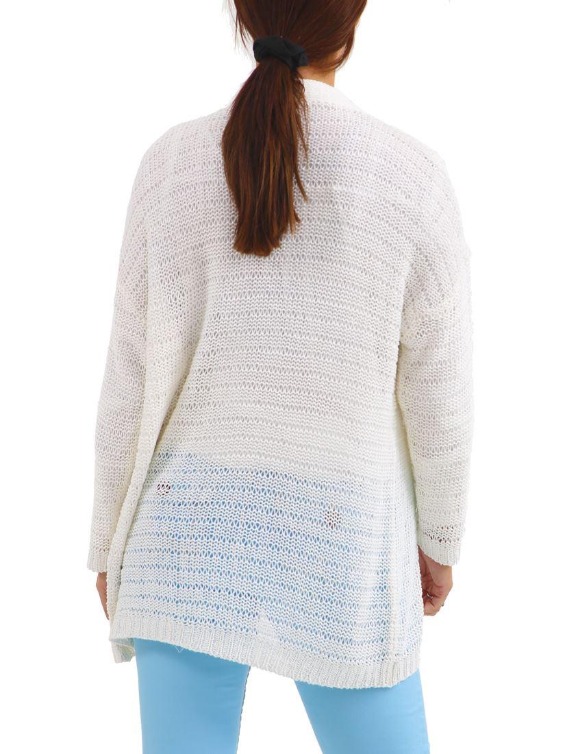 Womens Knitted Cardigan Crochet Size 10 12 14 16 18 20 22 8 Black White