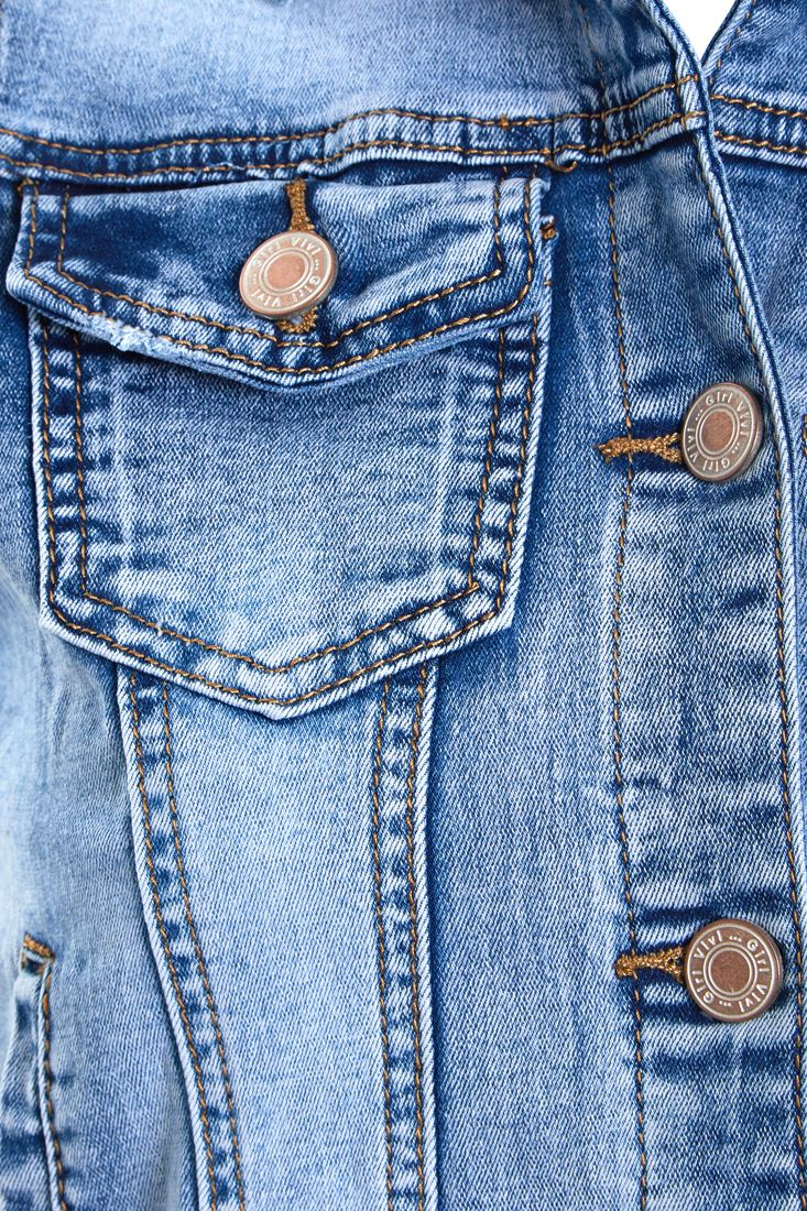 Womens Denim Gilet Jacket Ladies Stretch Jean Waistcoat Size 8 10 12 14 Blue