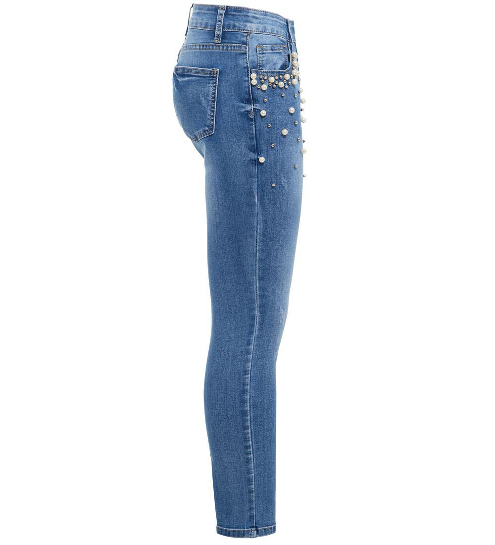 Womens Pearl Jeans Denim Slim Jean Plus Size 10 12 14 16 18 20 New