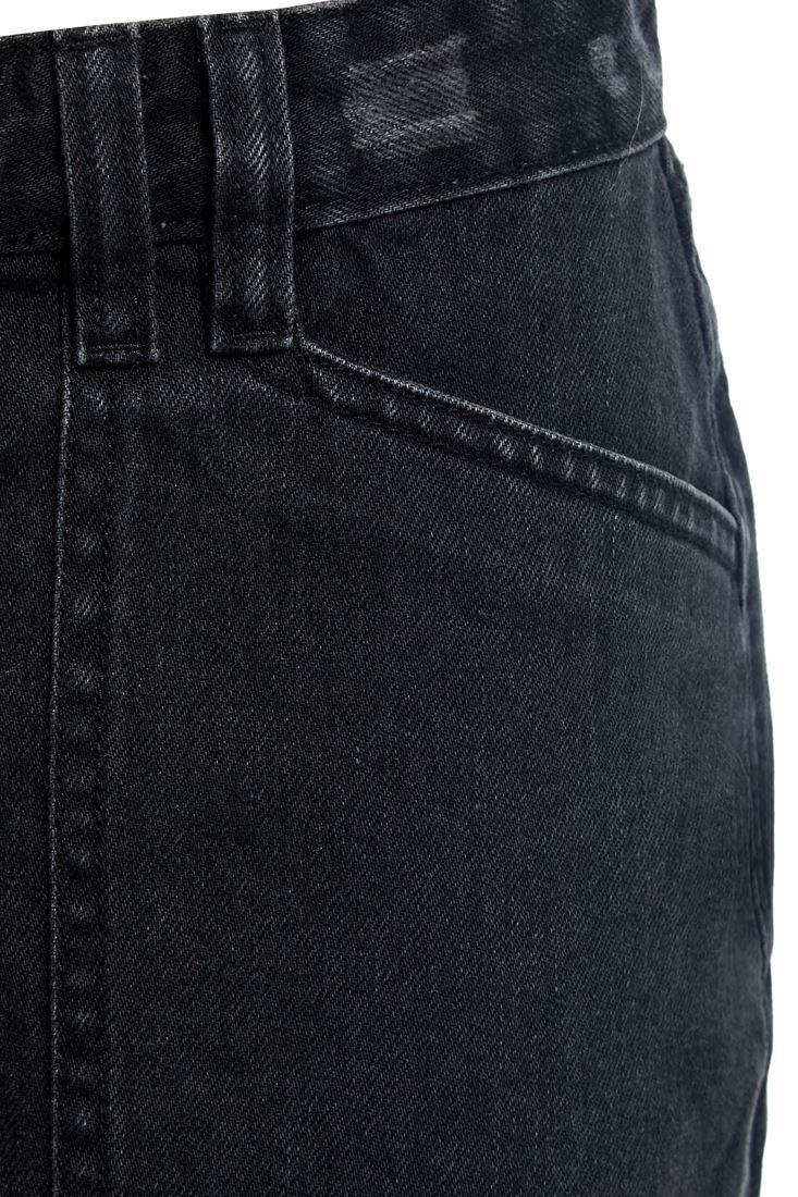Femme Effiloché Denim Jupe Avec Fermeture Éclair Jupe Nouveau Taille 6 8 10 12 14 Noir