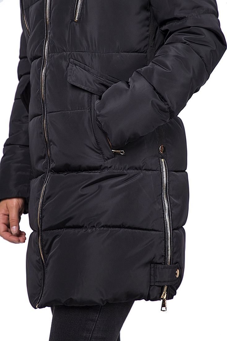 Womens Plus Size 16 18 20 22 Premium Faux Fur Padded Coat Hooded Parka