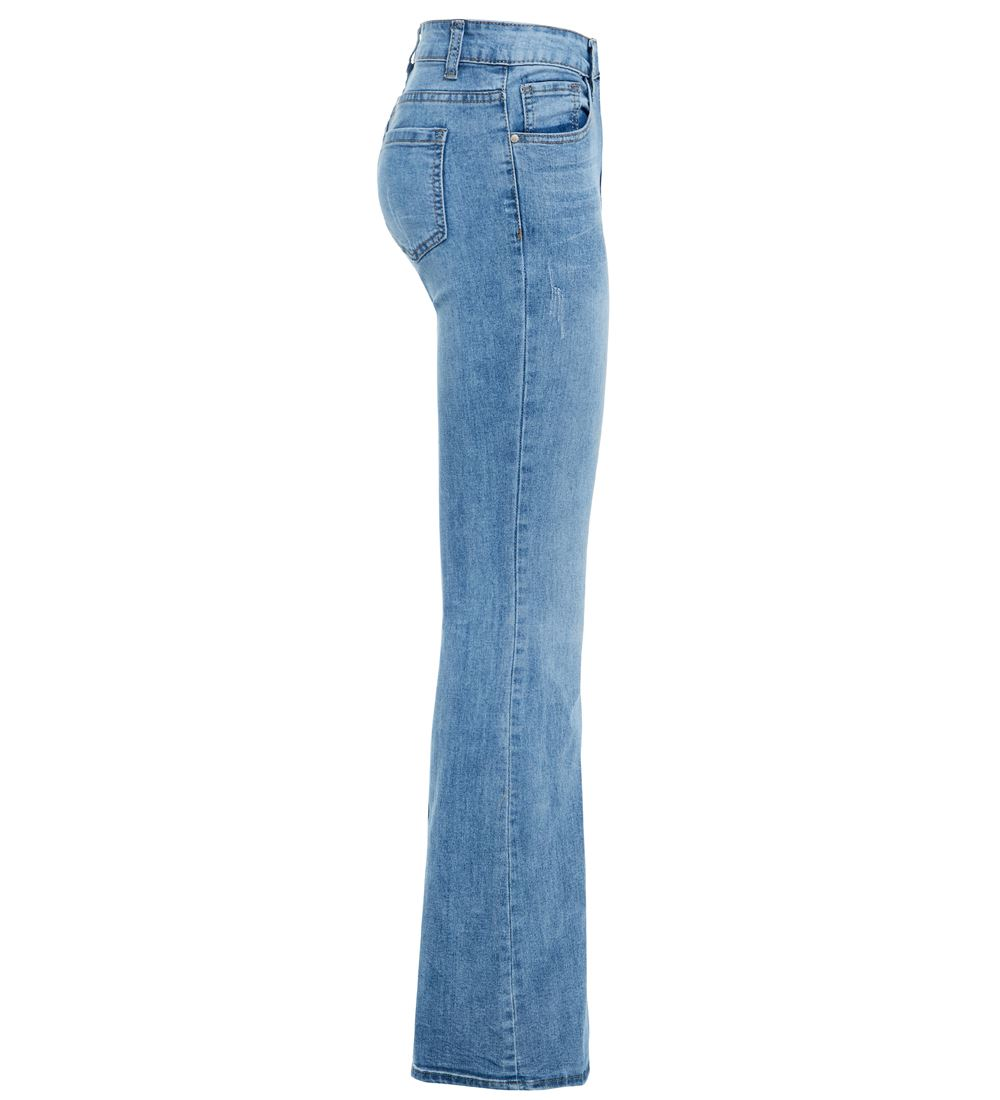 Womens Denim Jean Flare Flared Stretch Bootcut Jeans Size 6 8 10 12 14 16 New