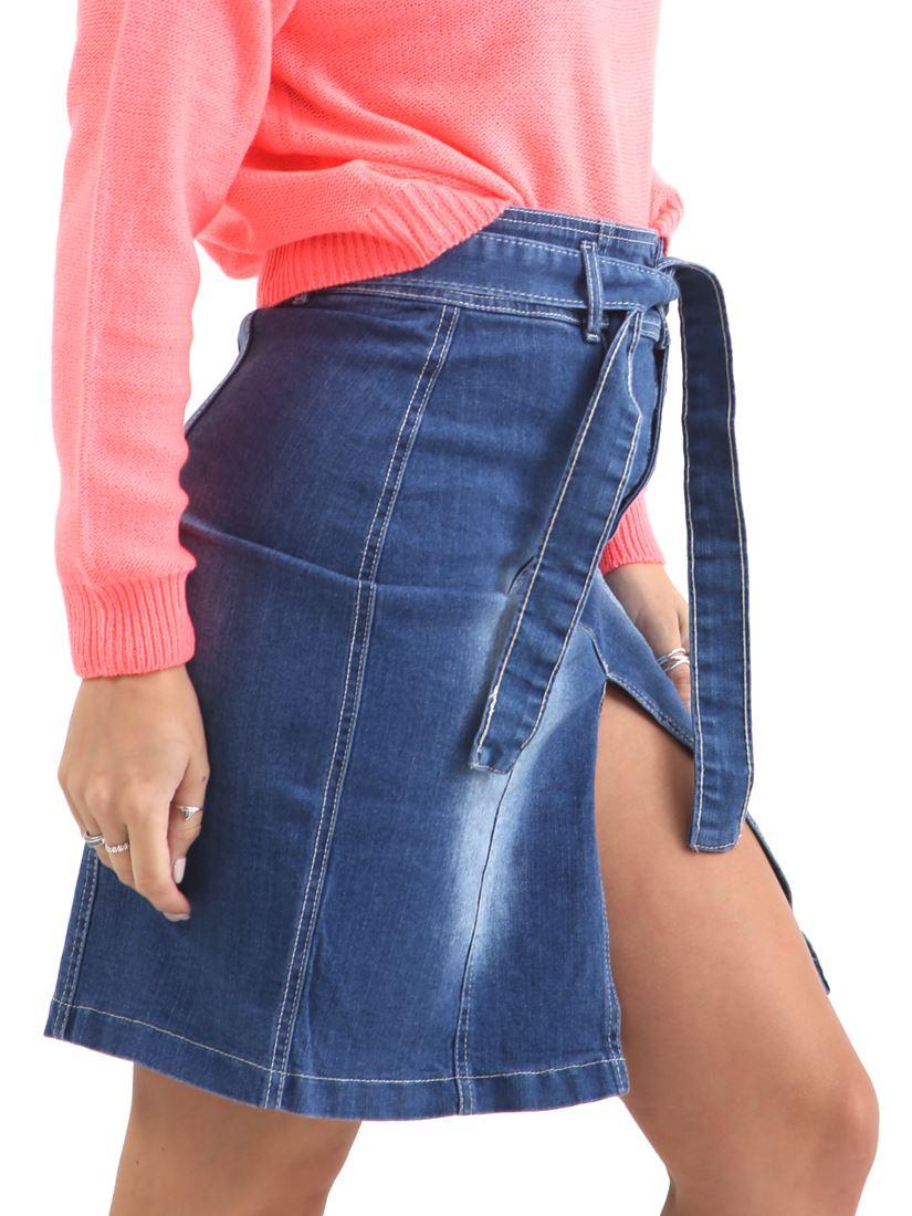 Womens Denim Skirt Front Split Straight Pencil skirts NEW Size 8 10 12 14 Blue