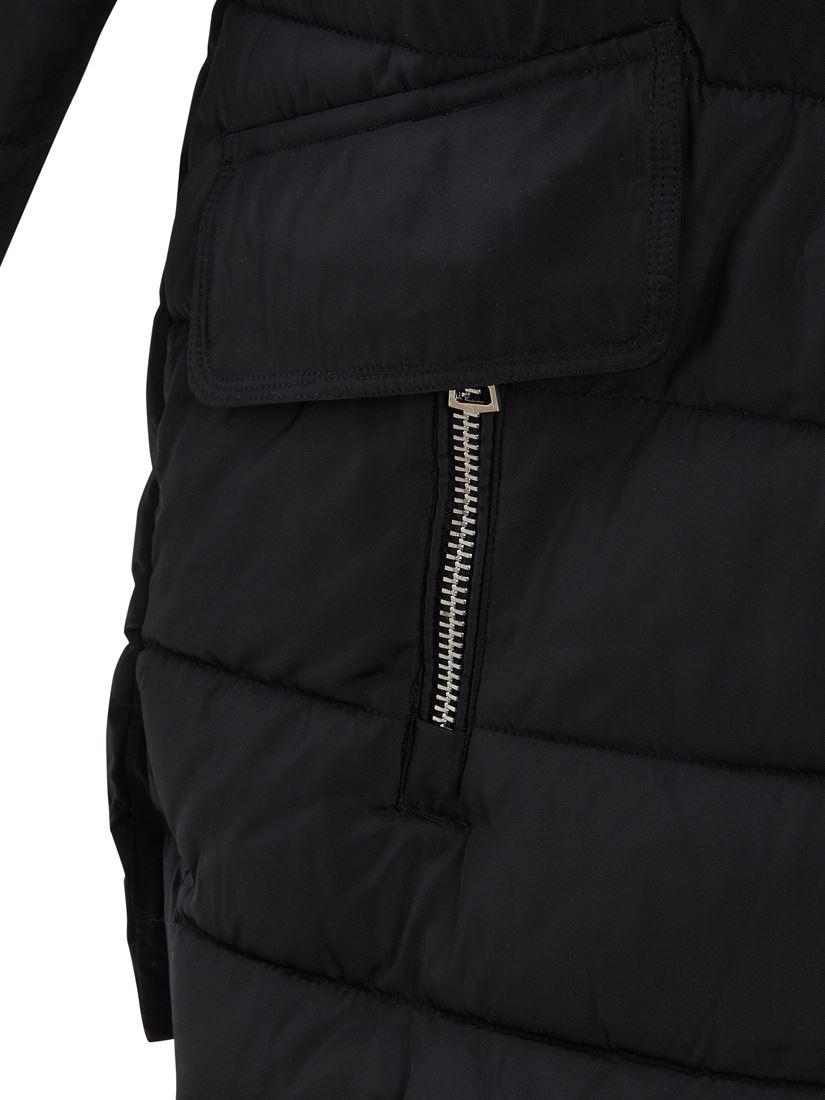 Womens Size 12 8 10 Premium Faux Fur Padded Parka Coat Puffa Black