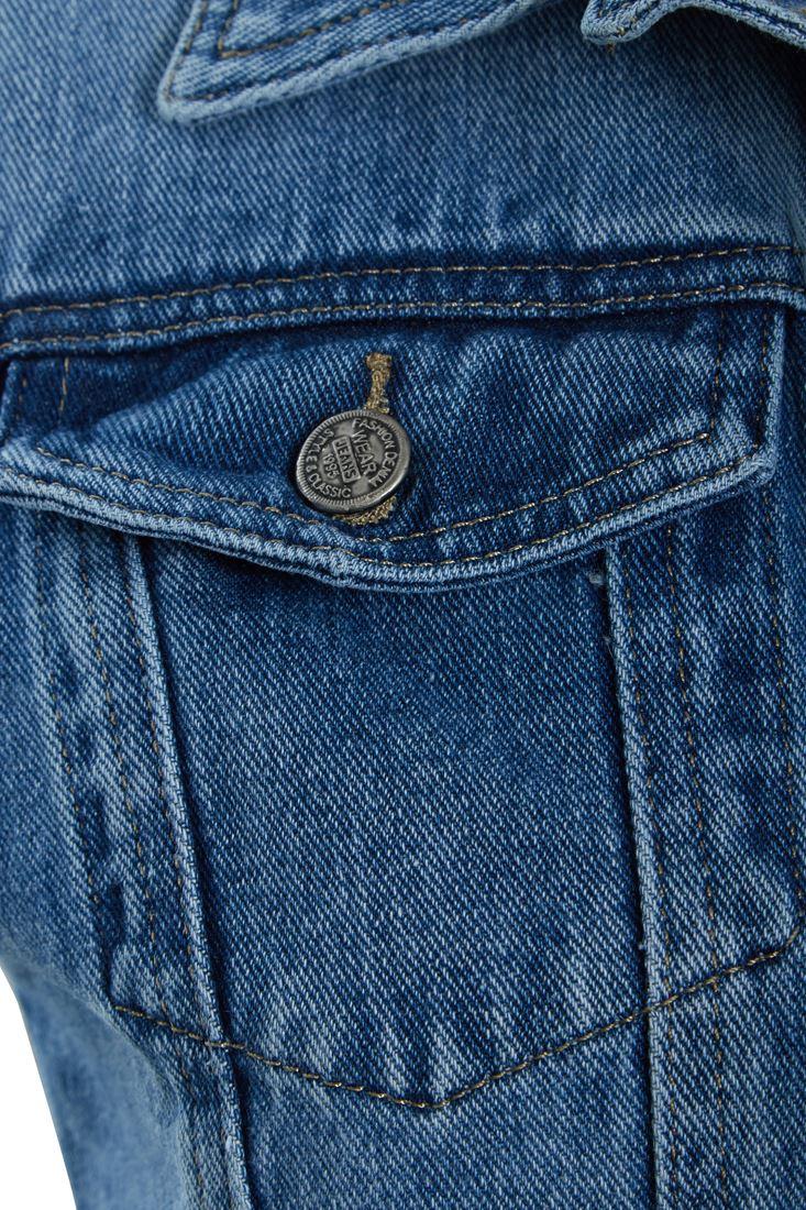Short femme Denim gilet bleu jean Veste Sans Manches Gilet Taille 8 10 12 14 6