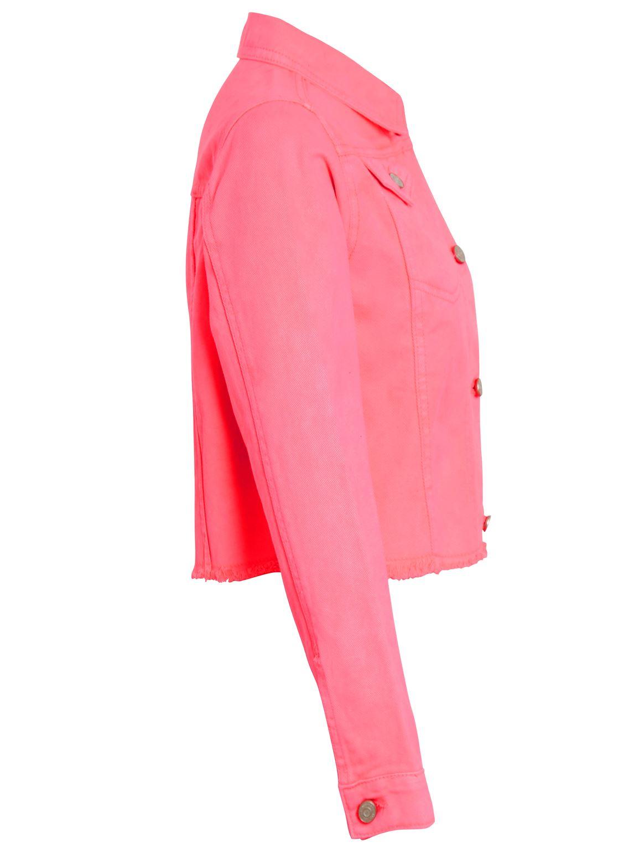 Femme Rose Fluo Veste En Jean Taille 14 12 10 8 16 Femmes Jean Court Vestes