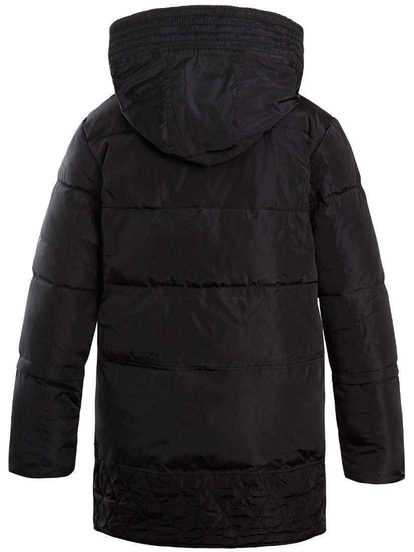 Womens Size 14 12 8 10 Premium Borg Lined Padded Parka Coat Puffa Black Cream
