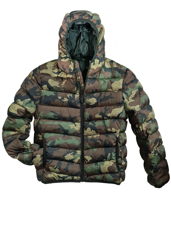 Boys Bubble Puffer Coat Ages 10 11 12 13 7 8 9 Years Jacket Camo Khaki