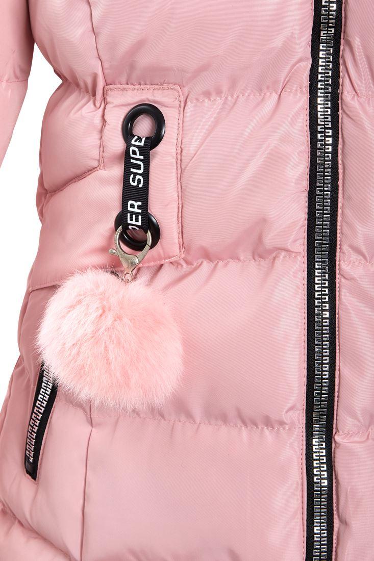 Girls Padded Coat Showerproof Parka Jacket Faux Fur Age 3 5 8 10 11 12 13 Black