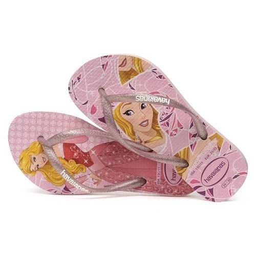 Havaianas Slim Kids Girls Princess Disney Frozen Aurora Cinderella Flip Flops