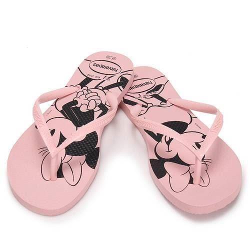 Havaianas Slim Women Disney Minnie Mouse Flip Flop Pink Sandals Shoe All Sizes