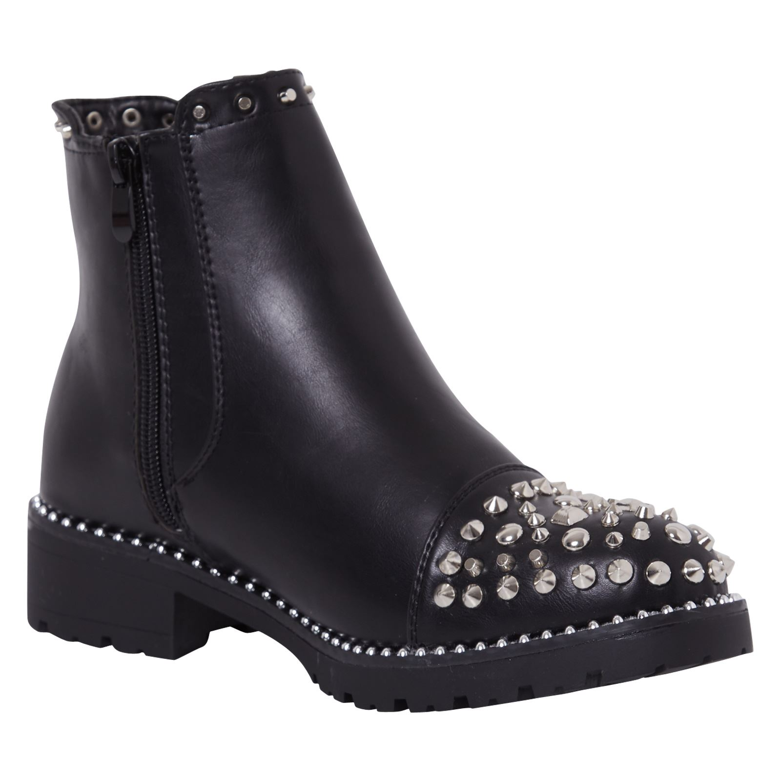 Nouveau Haut Chaussures Femmes Élastique Bottines Cloutées Casual Style Taille