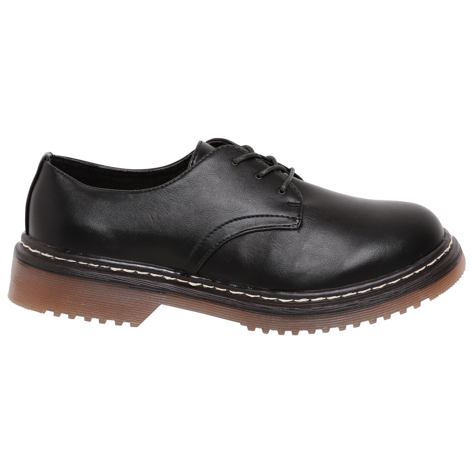 Eleanor Womens Shoes Laces Buckle Brogue Flats Casual School Style Size New UK