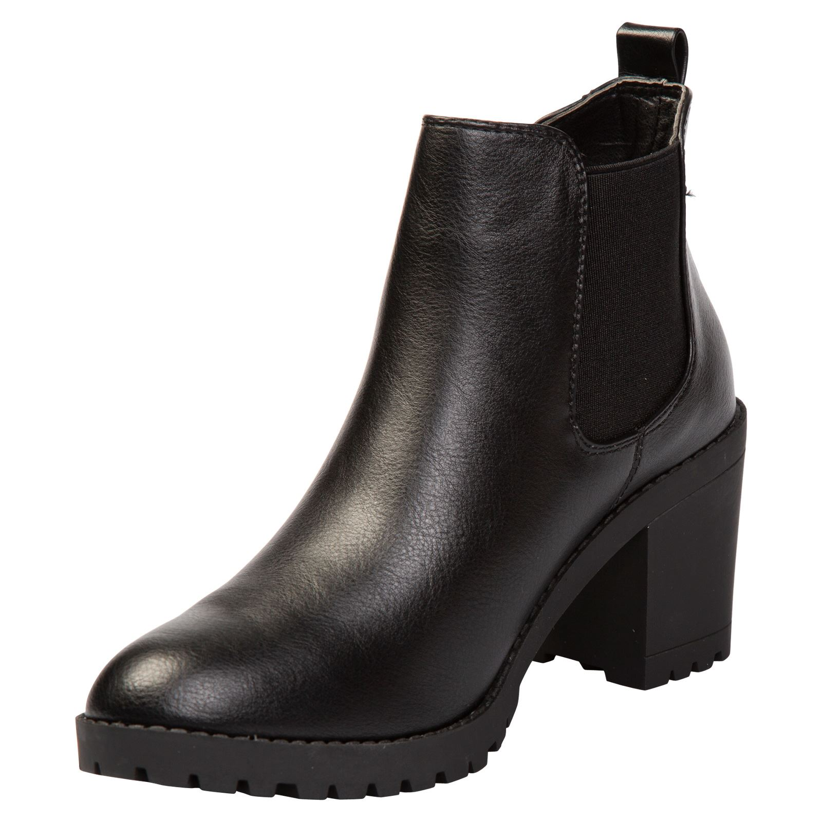 Amaya Womens Mid Block Heel Pull On Chelsea Style Boots Ladies Shoes Casual Size