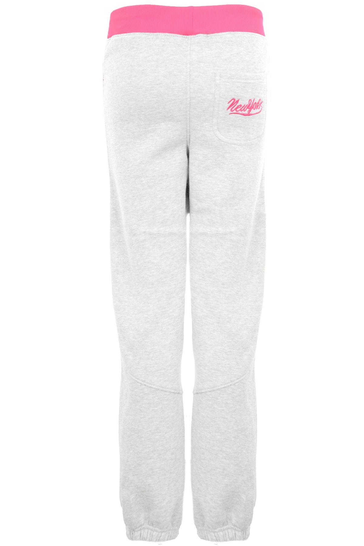 Women/'s Fuchsia New York Stretch Shiny Ladies Casual Jogging Bottom Trousers