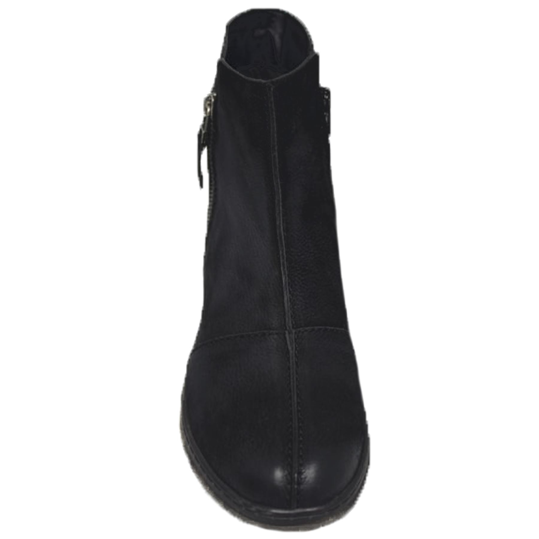 GLH496 Marcella Comfortable Side Zipper Warm Winter Leather Flat Ankle Boots