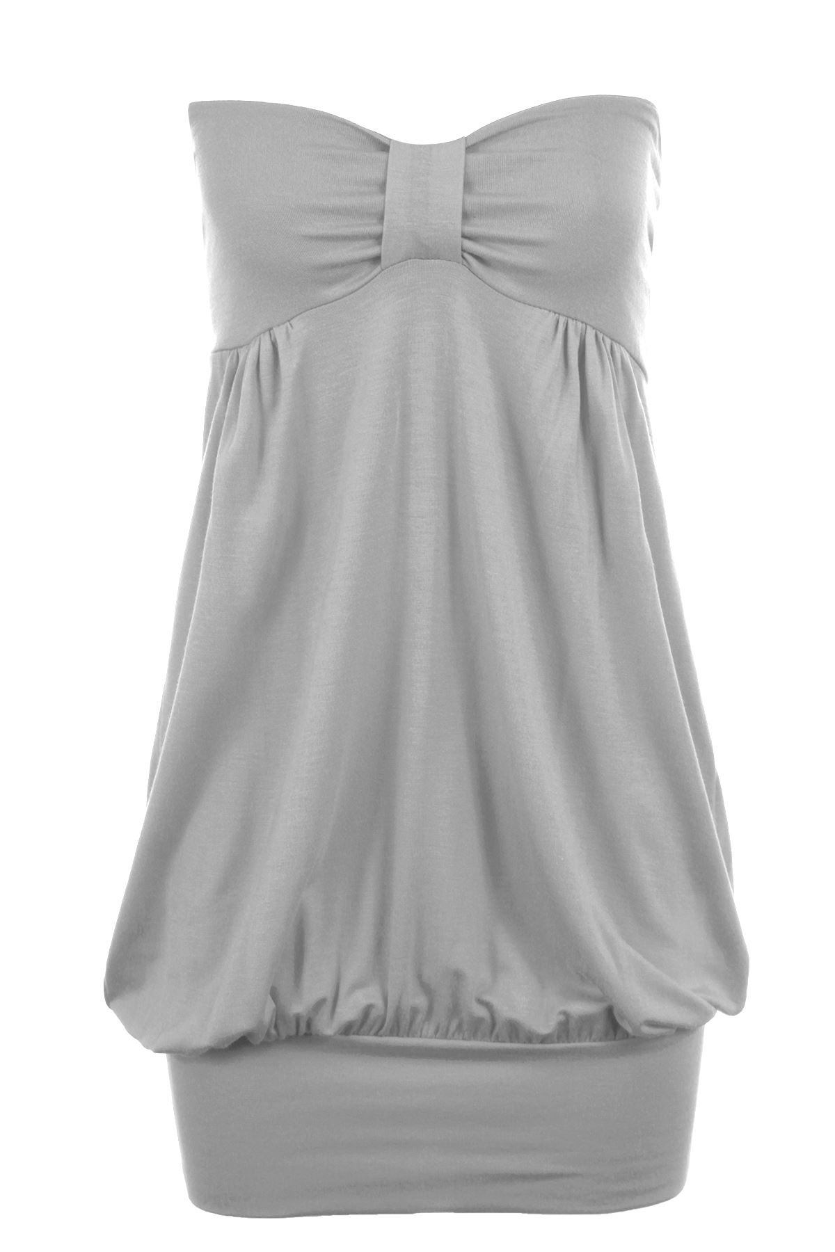 Ladies Boobtube Strapless Knot Plus Size Women/'s Bandeau Party Casual Top