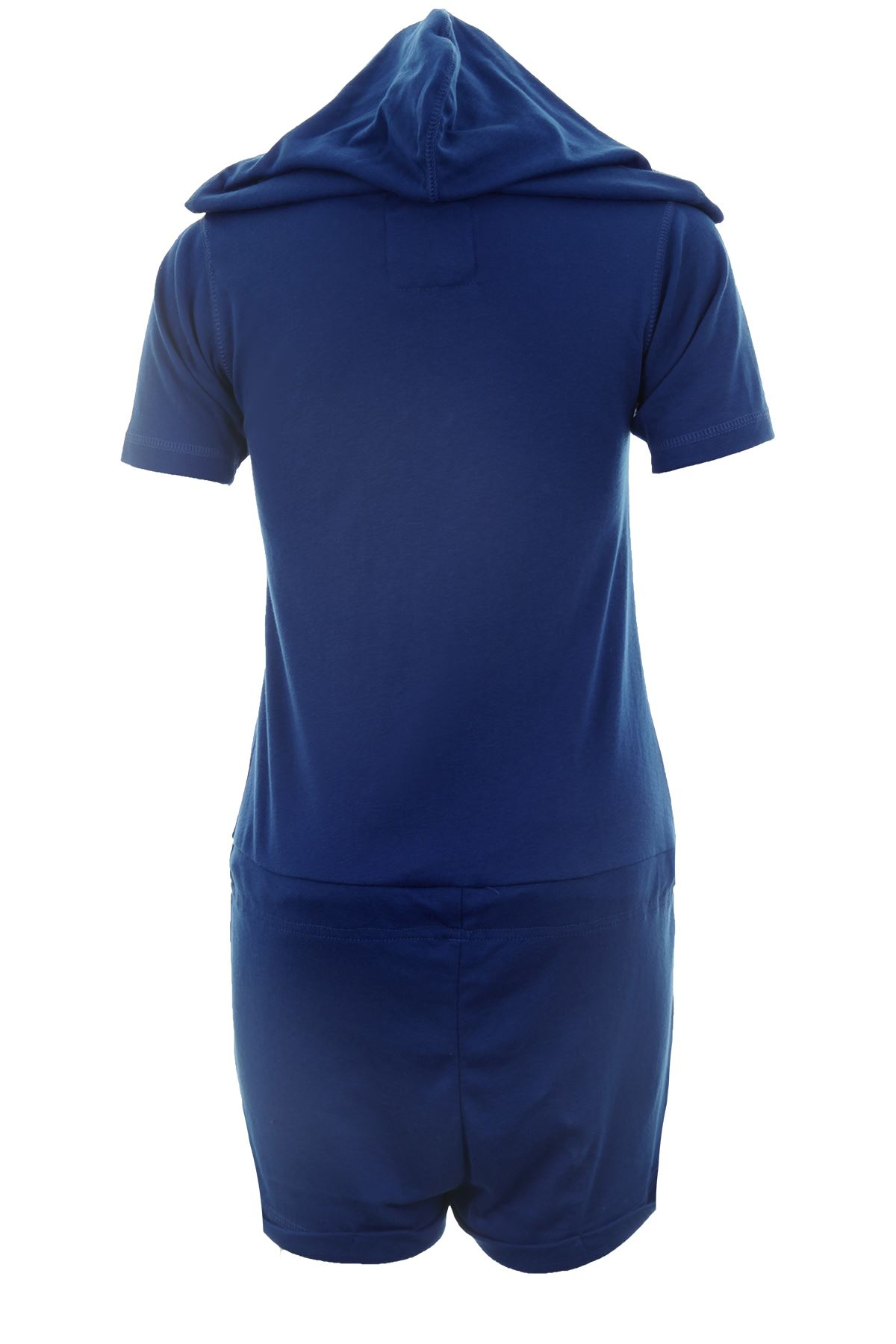 Women/'s Aztek Flourescent Hooded All In One Short Sleeve Short Jumpsuit Playsuit