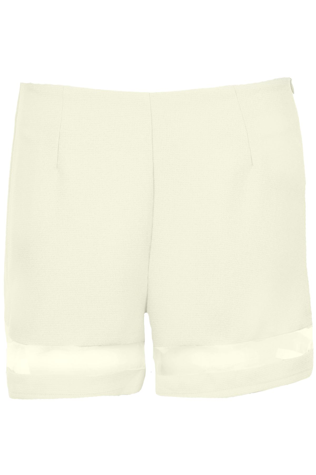 Women/'s Short Sleeve Mesh Panel Ladies Neon Textured Party Shorts and Top