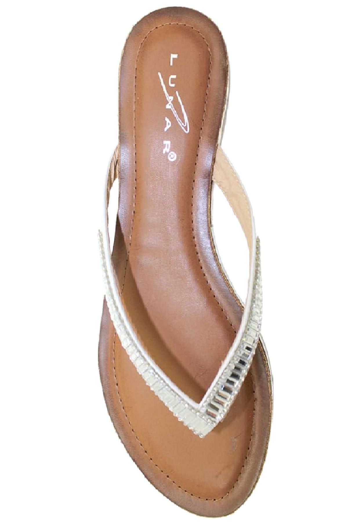 JLH812 Starla Ladies Diamante Comfortable Toe Post Fashion Flat Thong Sandals