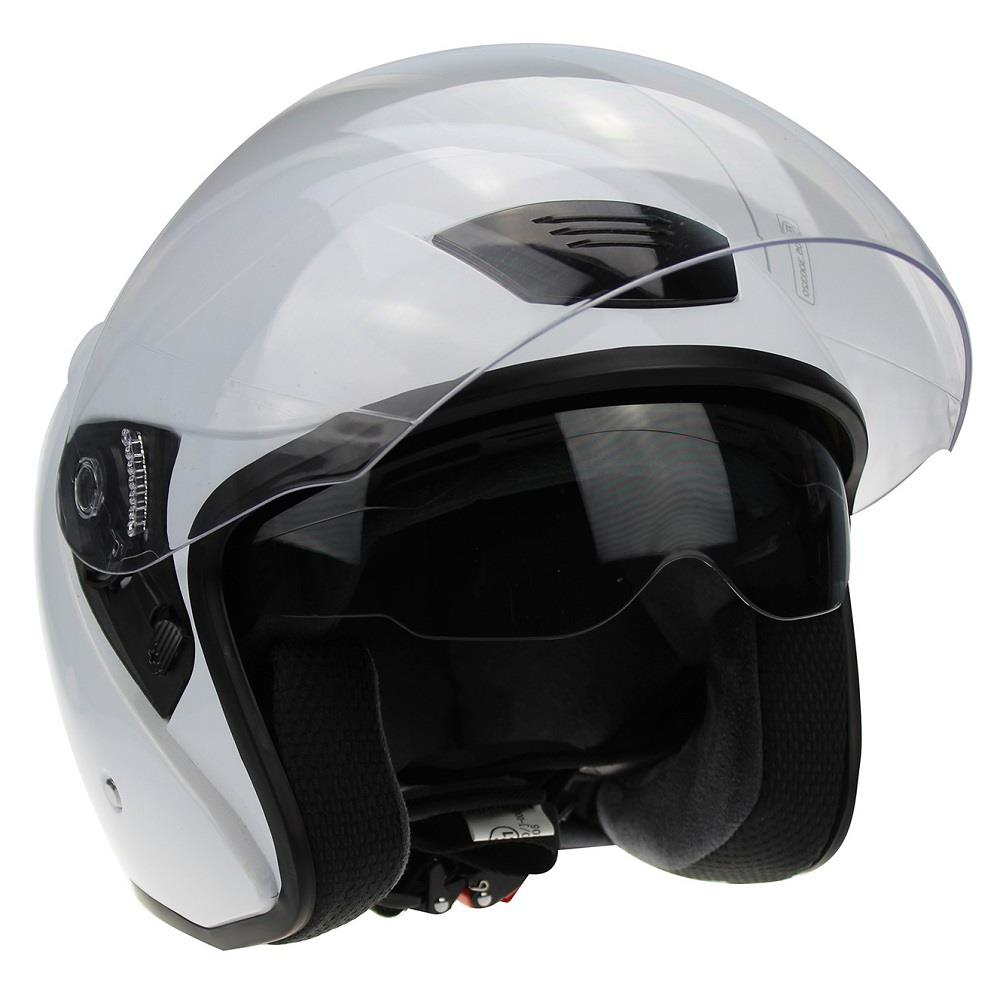 Viper RS-v12 Autoroute Open Face Motorcycle Helmet Jet Motorbike Lid Black White