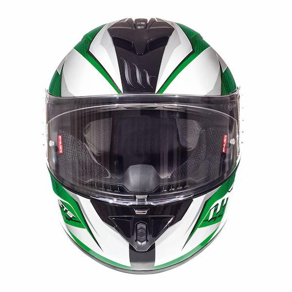 MT Rapide Crucial Fibreglass Full Face Motorcycle Crash Helmet Blue Green Red