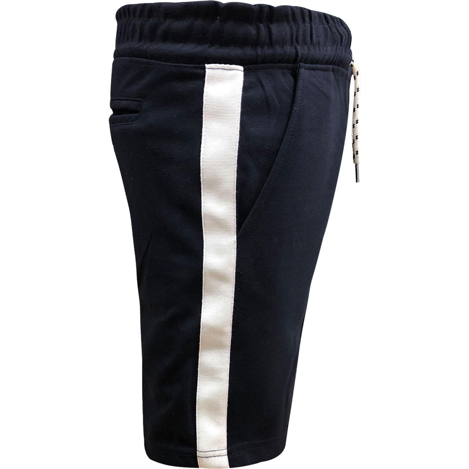 Pantaloncini da Uomo in Pile Pantaloni da palestra in esecuzione in jersey a righe estate Jogging Pantaloni metà