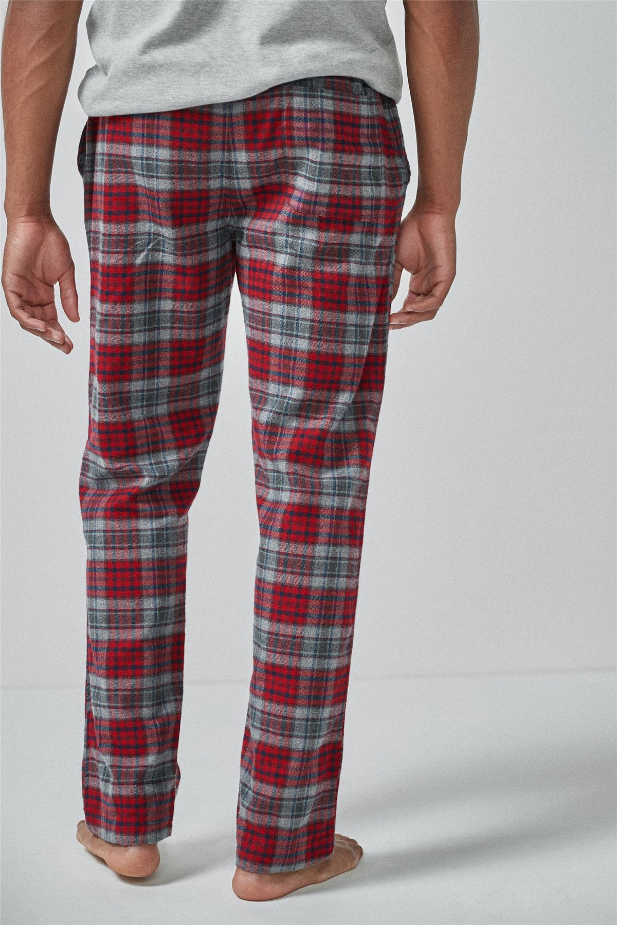 Mens NEXT Check Brushed Woven Pyjama Bottoms 100/% Cotton PJ/'s Flannel Trousers