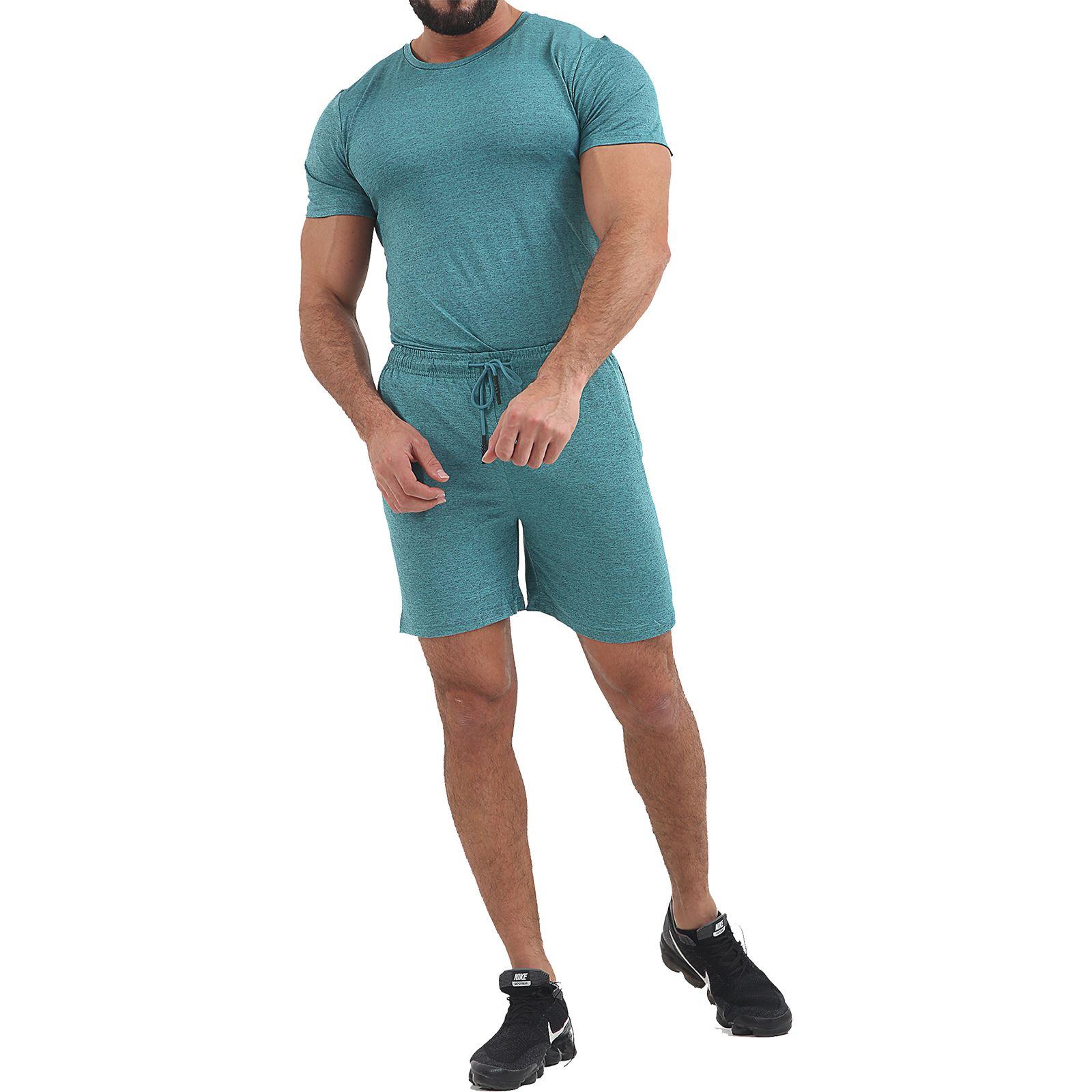 Men/'s T-shirt and Short Set Gym Sports Summer Running Sweat Lightweight Outfit