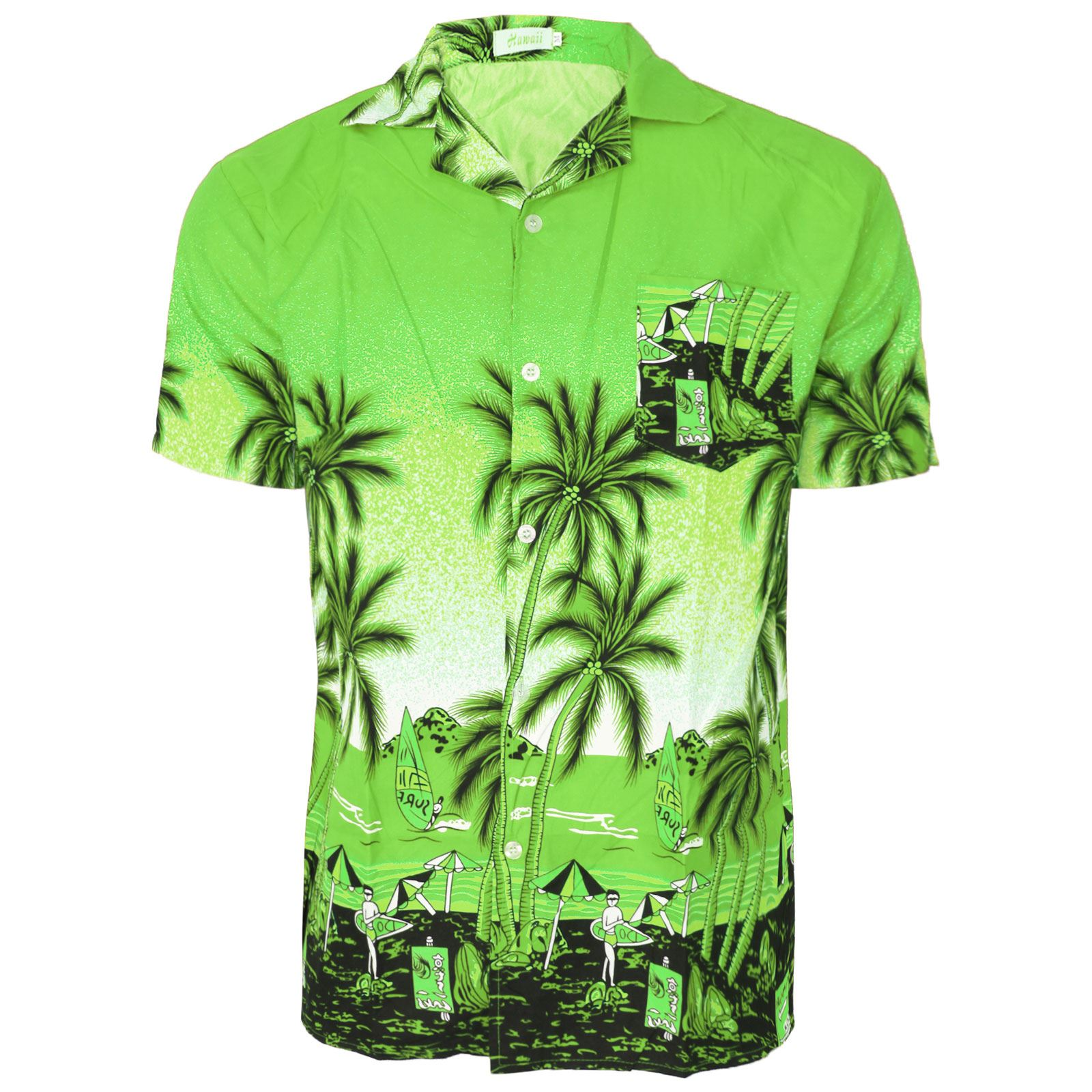HAWAIIAN MENS SHIRT FLORAL ROCKABILLY SURF BEACH PARTY HOLIDAY STAG OUTFIT DANCE