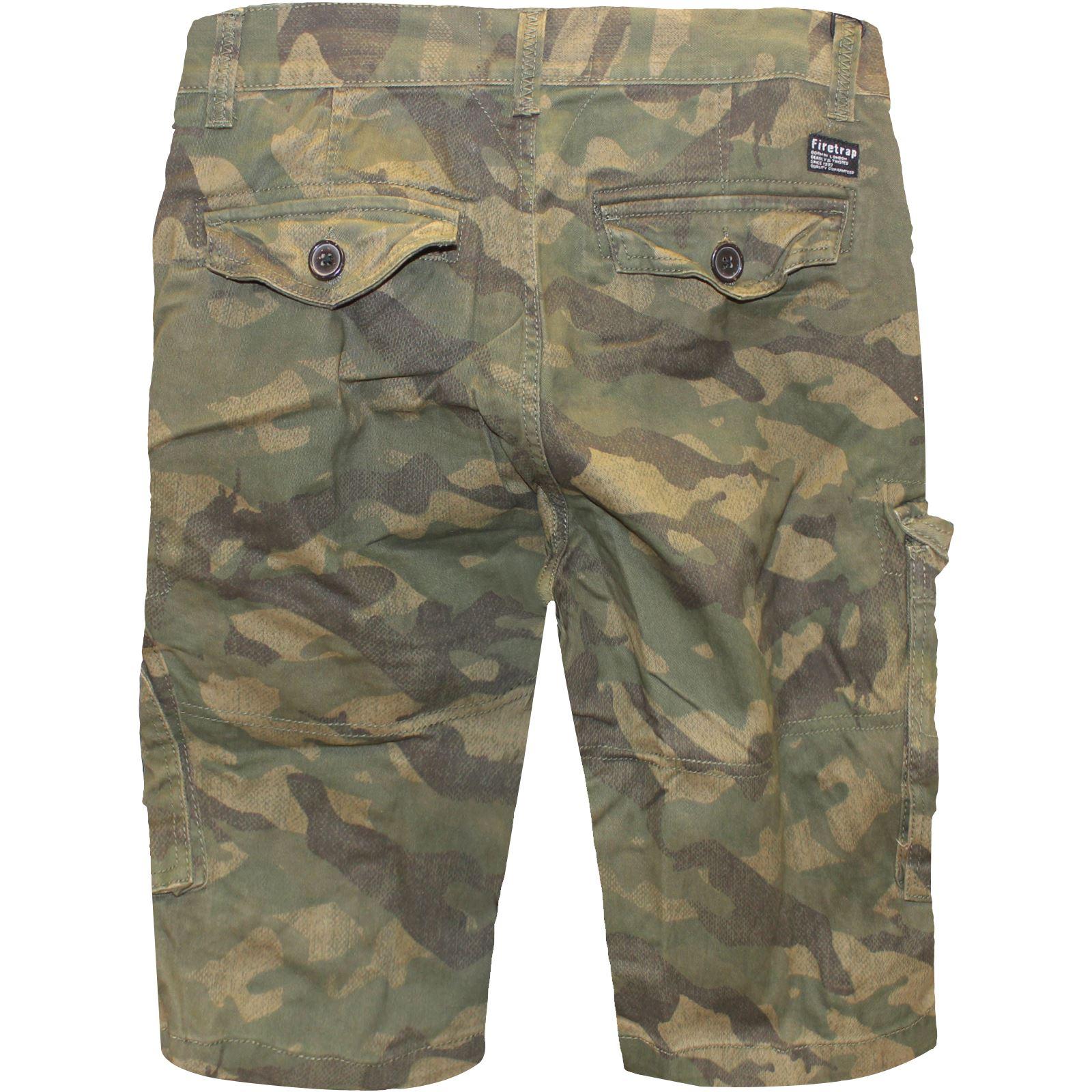 Da Uomo Cargo Combat Esercito Pantaloncini Casual Lavoro Camouflage Cotone Chino Half Pantalone Mimetico