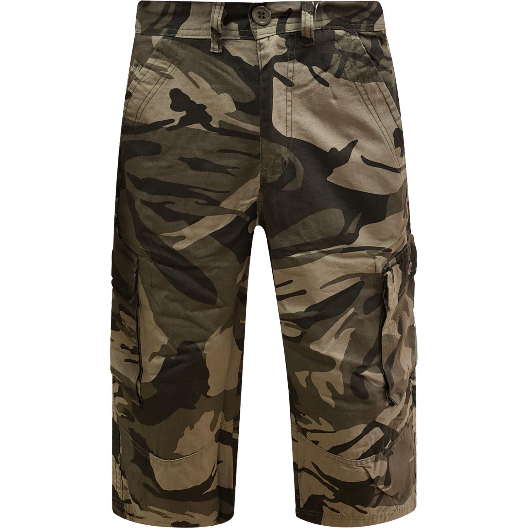 New Mens GAP Cargo Combat 3//4 Shorts Casual Summer Cotton Chino Smart Half Pants