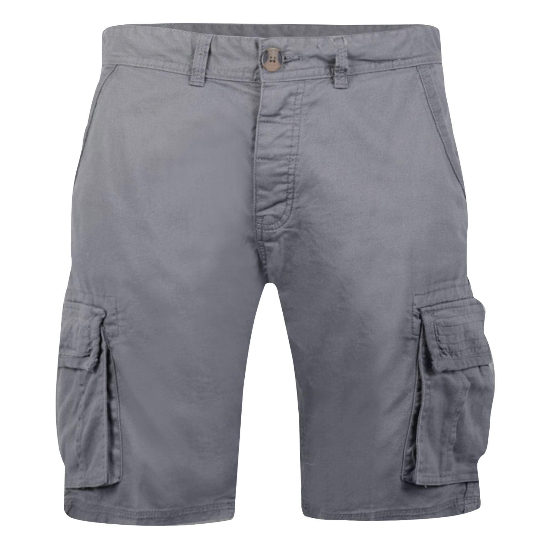 Hommes Crosshatch Cargo Combat Short en coton kaki camouflage militaire Demi Pantalon Long