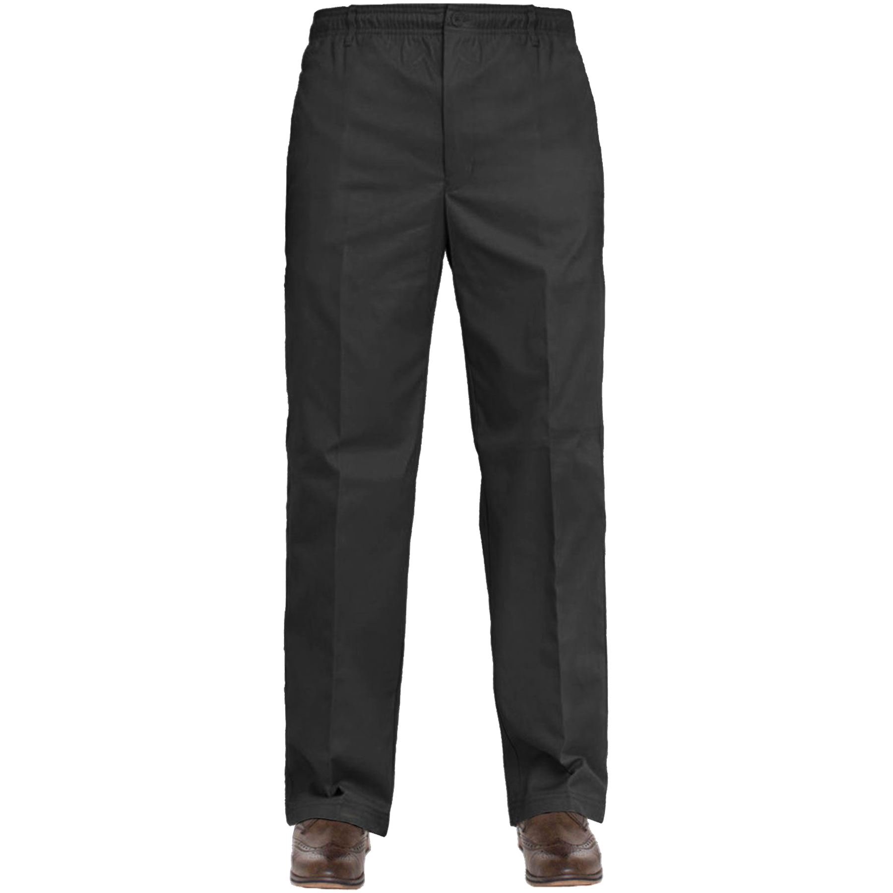 New Mens Rugby Trousers Elasticated Waist Casual Smart Work Pants W30/'/' 60/'/'