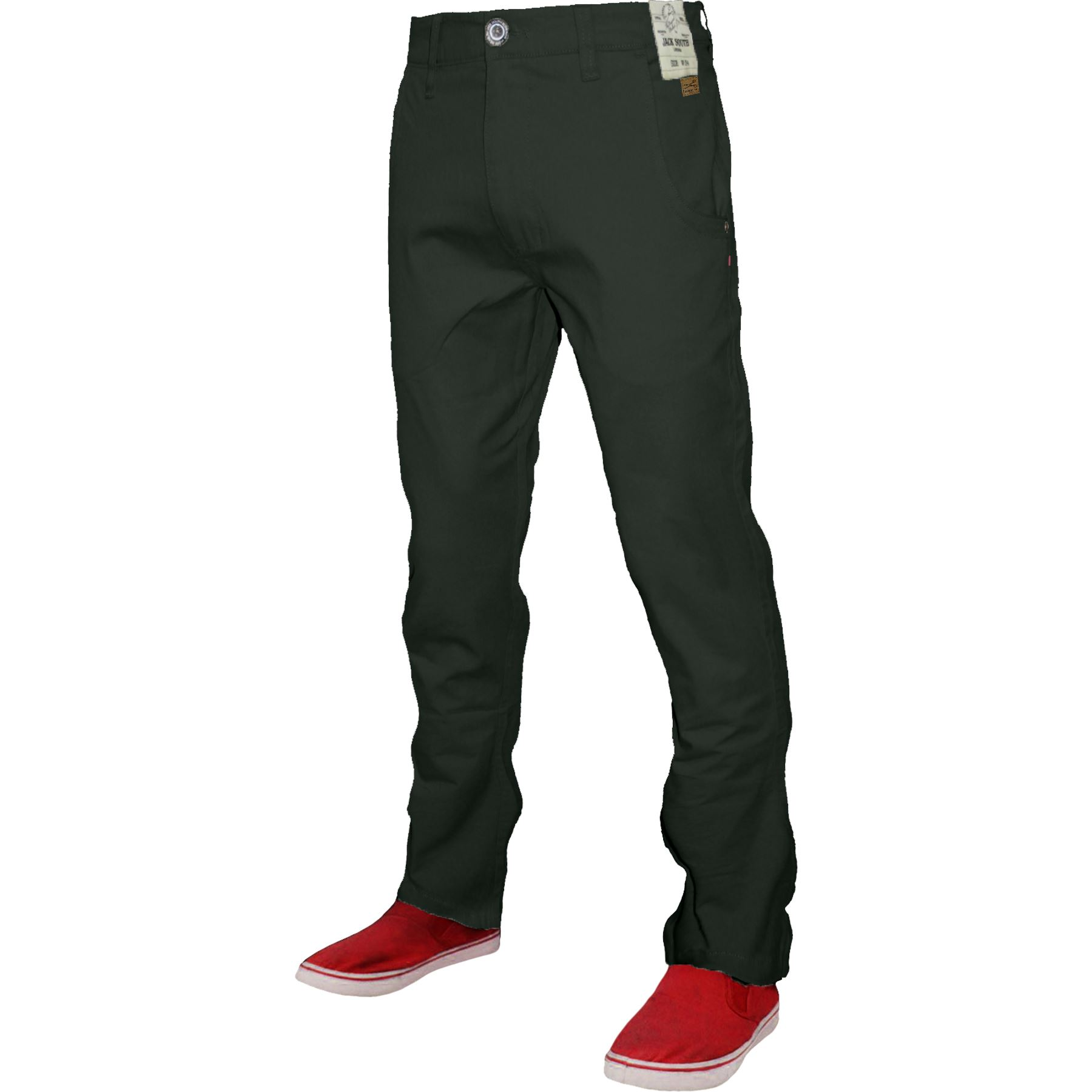 Mens Chino Classic Regular Fit Trouser Casual Stretch Spandex Pants Size 32-40
